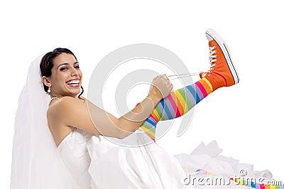 Funny bride shoes