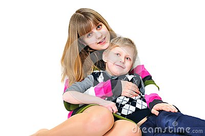 Funny brother and sister