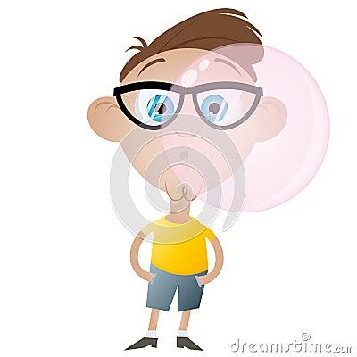 Funny bubblegum boy