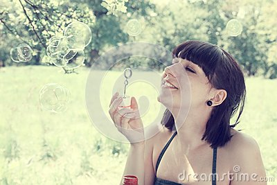 Funny bubbles,tinted