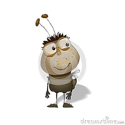 Free Funny Bug Cartoon Royalty Free Stock Photography - 30294837