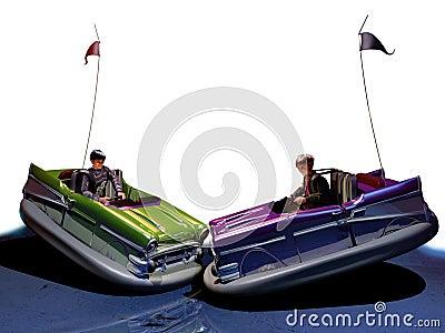 Funny bumper cars