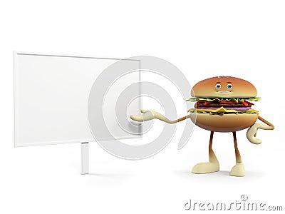 Funny burger