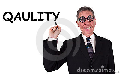Funny Businessman Can t Spell Quality