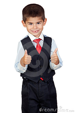 Funny businessman saying Ok