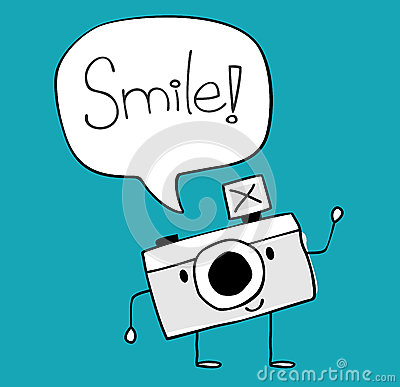 funny camera cartoon vector royalty free stock photo