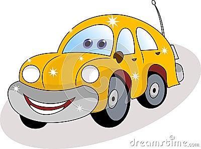 Funny car cartoon