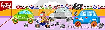Funny car race