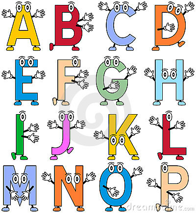 Free Funny Cartoon Alphabet [1] Stock Images - 12457244