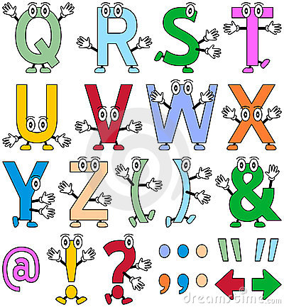 Free Funny Cartoon Alphabet [2] Stock Image - 12457261