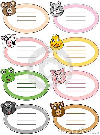 Funny Cartoon Animal Labels [1]