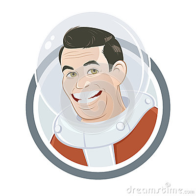 Funny cartoon astronaut
