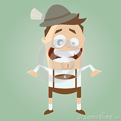 Funny cartoon bavarian man