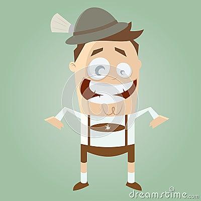 Funny cartoon bavarian man