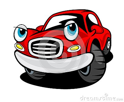Funny cartoon car