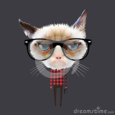Free Funny Cartoon Cat Stock Images - 31344734
