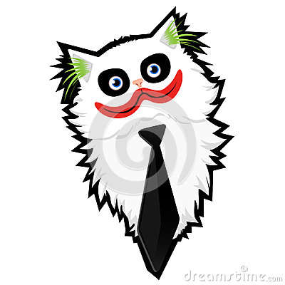 Funny Cartoon Cat-Joker Royalty Free Stock Photos - Image: 29503118