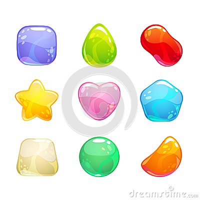 Free Funny Cartoon Colorful Jelly Candies Set. Royalty Free Stock Images - 99868899