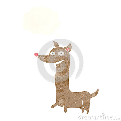 Free Funny Cartoon Dog With Thought Bubble Stock Photos - 52923843