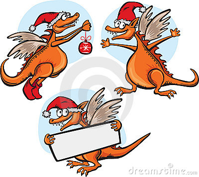 Funny cartoon dragon