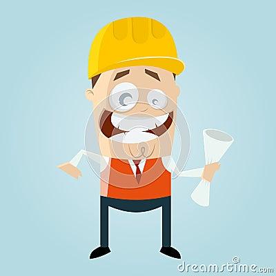 Funny cartoon engineer