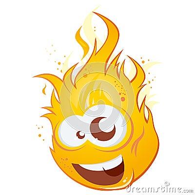 Funny cartoon flame