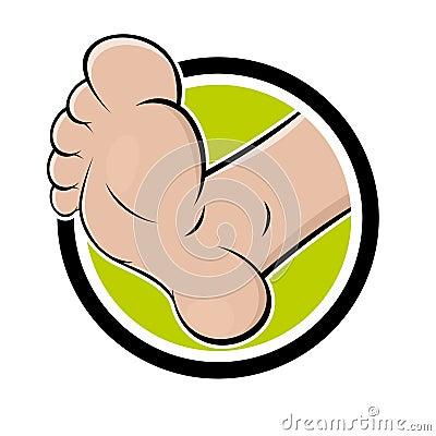 Funny cartoon foot