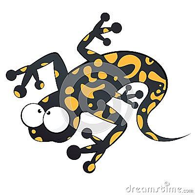 Funny cartoon lizard
