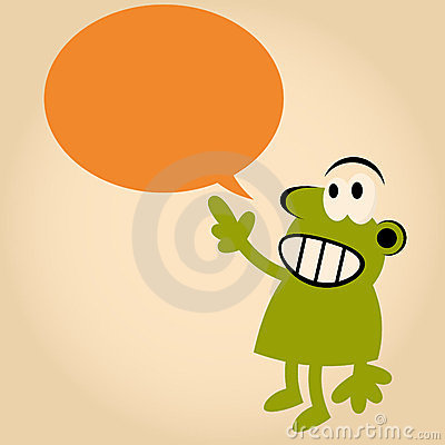 Funny cartoon man is speaking