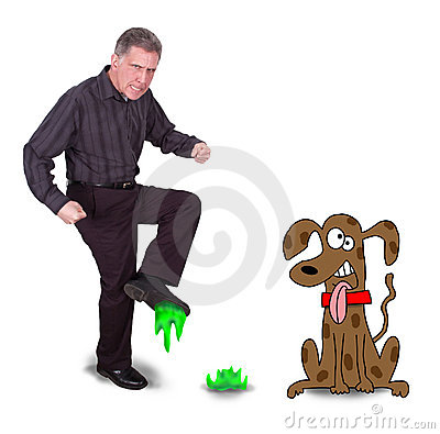 cartoon dog poop. FUNNY CARTOON MAN STEP IN DOG