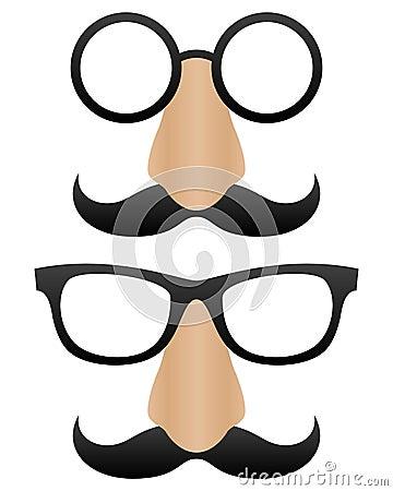 Free Funny Cartoon Masks Royalty Free Stock Image - 23575826