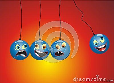 Funny Cartoon Newton Pendulum mobile