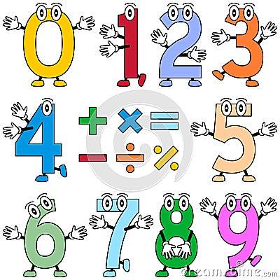 Free Funny Cartoon Numbers Stock Photos - 8946973