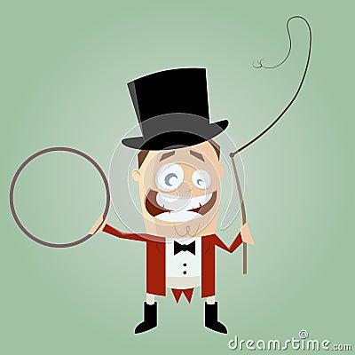 Funny cartoon ringmaster