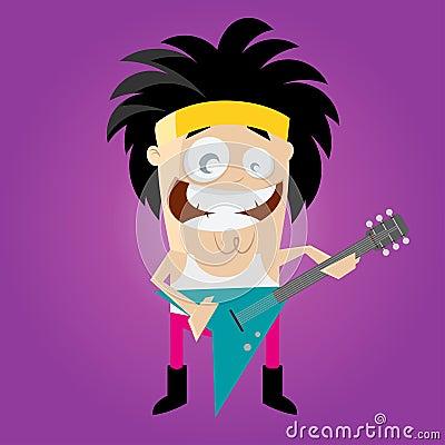 Funny cartoon rocker