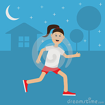Watch more like Cartoon Of Jogger At Night