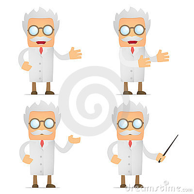 Free Funny Cartoon Scientist Giving Presentation Royalty Free Stock Image - 21036286