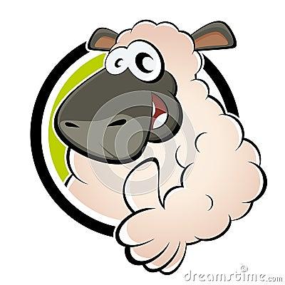 Funny cartoon sheep