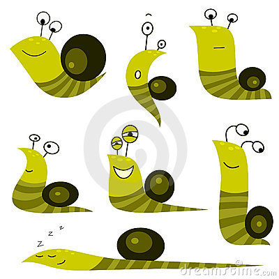 Funny cartoon snail