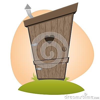 Funny cartoon toilet