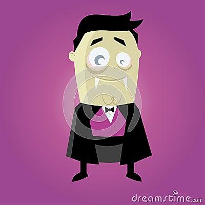 Funny cartoon vampire