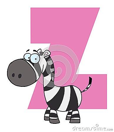 Funny cartoons alphabet-Z