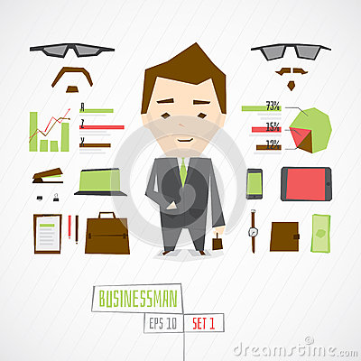 Free Funny Character Businessman Stock Photography - 66806322