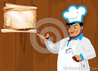 Funny Chef and menu