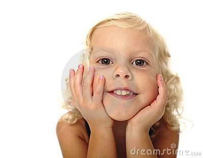 Funny child portrait