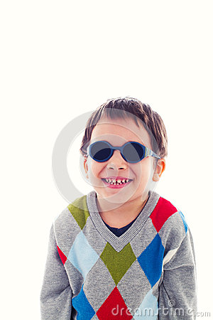 Funny child with sunglasses