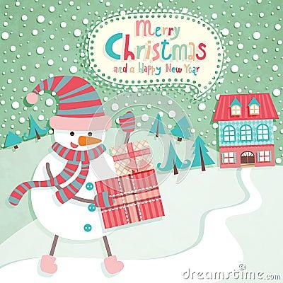 Funny Christmas postcard