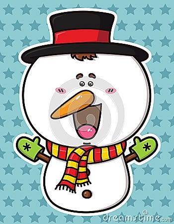 Funny  Christmas Snowman.