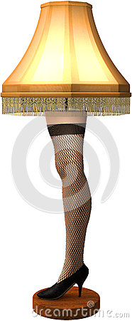 Free Funny Christmas Story Leg Lamp Isolated Royalty Free Stock Photography - 63362457