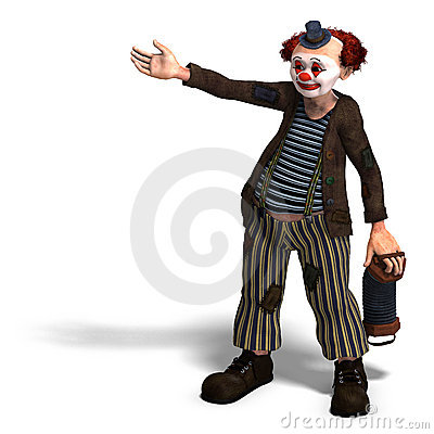 Free Funny Circus Clown With Lot Of Emotions Stock Photography - 11309762
